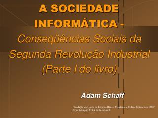 A SOCIEDADE INFORM TICA -Conseq  ncias Sociais da Segunda Revolu  o Industrial Parte I do livro