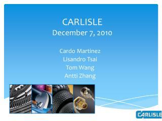 CARLISLE December 7, 2010