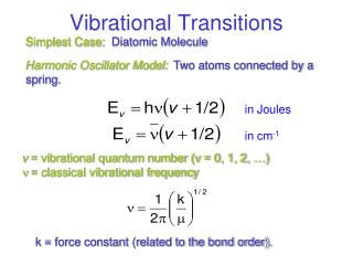 Vibrational Transitions