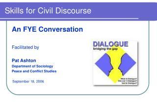 Skills for Civil Discourse