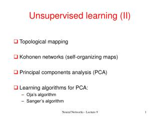 Unsupervised learning II