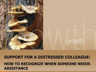 SUPPORT FOR A DISTRESSED COLLEAGUE: