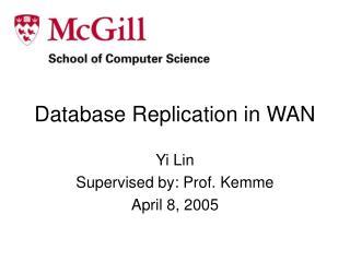 Database Replication in WAN