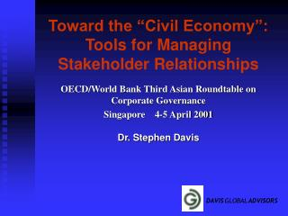 Toward the  Civil Economy : Tools for Managing Stakeholder Relationships