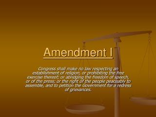 Amendment I