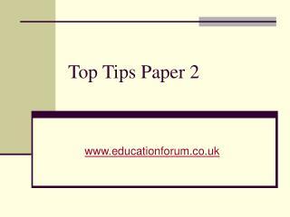 Top Tips Paper 2