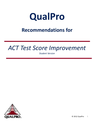 QualPro   Recommendations for