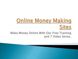 Online Money Making Sites