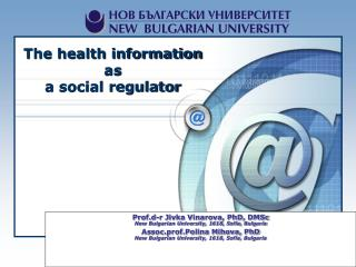 The health information  as  a social regulator