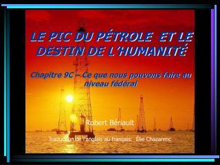 Robert B riault  Traduction de l anglais au fran ais:   lie Chazarenc