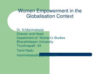 Women Empowerment in the Globalisation Context
