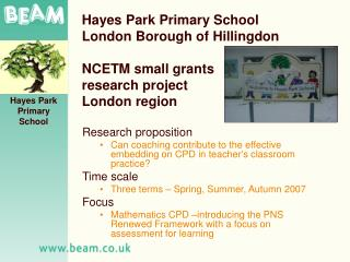 Hayes Park Primary School London Borough of Hillingdon   NCETM small grants research project London region