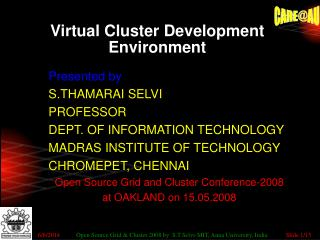 Virtual Cluster Development Environment