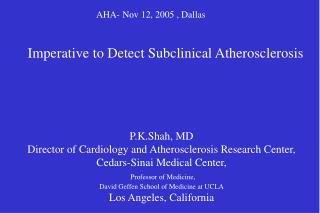 AHA- Nov 12, 2005 , Dallas
