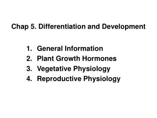 Chap 5. Differentiation and Development