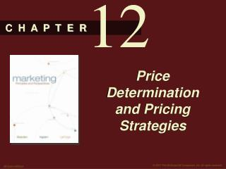 Price Determination and Pricing Strategies