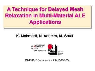 A Technique for Delayed Mesh Relaxation in Multi-Material ALE Applications