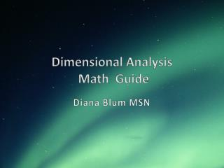Dimensional Analysis  Math  Guide