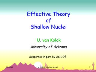 Effective Theory of Shallow Nuclei