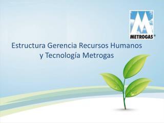 Estructura Gerencia Recursos Humanos y Tecnolog a Metrogas
