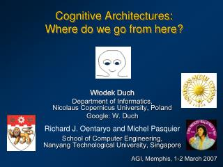 Cognitive Architectures:  Where do we go from here