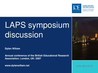 LAPS symposium discussion