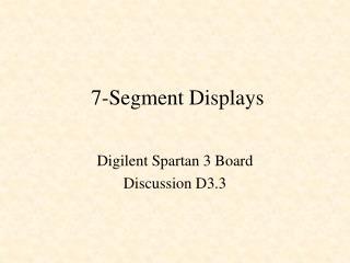 7-Segment Displays