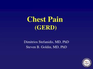 Chest Pain  GERD