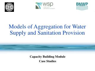 Models of Aggregation for Water  Supply and Sanitation Provision
