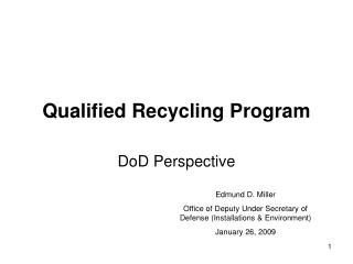 Qualified Recycling Program