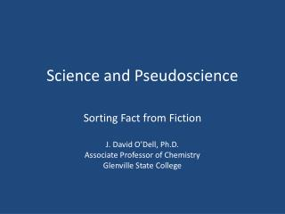 Science and Pseudoscience