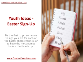 Youth Ideas - Easter Sign-Up