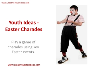 Youth Ideas - Easter Charades