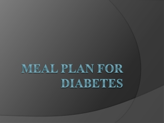 meal plan for diabetics