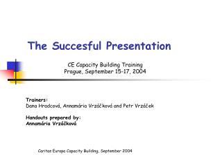 The Succesful Presentation