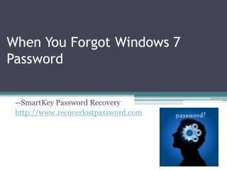 When You Forgot Windows 7 Password