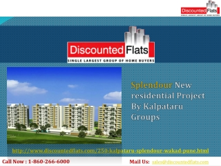 Splendour New residential Project By Kalpataru Groups