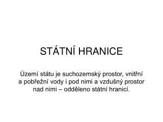 ST TN  HRANICE