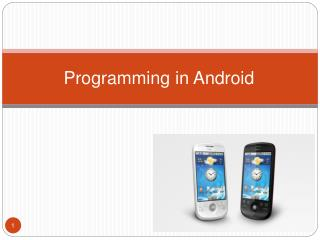Programming in Android