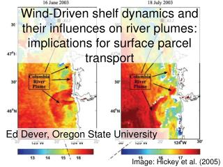 Wind-Driven shelf dynamics and their influences on river plumes: implications for surface parcel transport