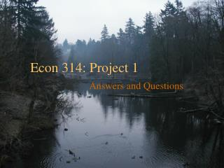 Econ 314: Project 1