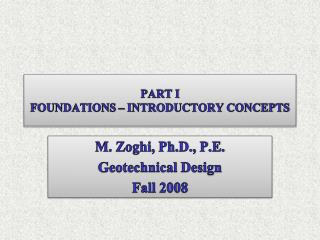 PART I FOUNDATIONS   INTRODUCTORY CONCEPTS