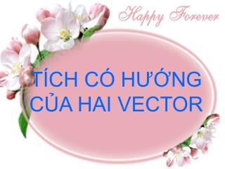 T CH C  HUNG CA HAI VECTOR