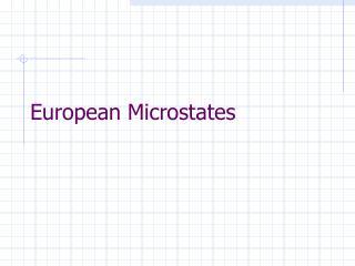 European Microstates