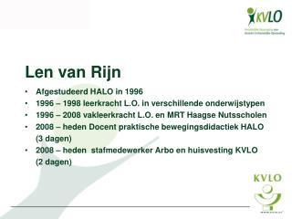 Len van Rijn