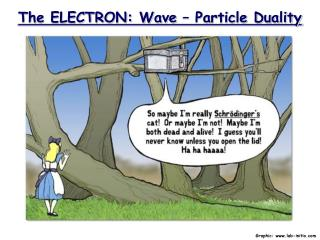 The ELECTRON: Wave   Particle Duality