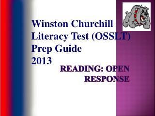 Reading: Open Response