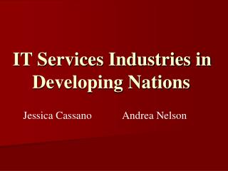 IT Services Industries in Developing Nations