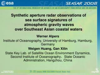 Synthetic aperture radar observations of             sea surface signatures of  atmospheric gravity waves