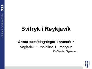 Svifryk   Reykjav k